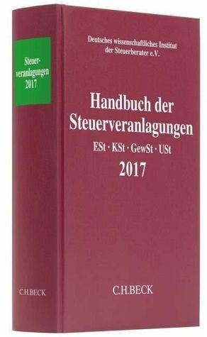 Buch mit Leinen-Einband »Handbuch der Steuerveranlagungen«