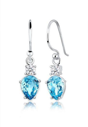 Elli Paar Ohrhänger »Tropfen Solitär Swarovski® Kristalle 925 Silber«