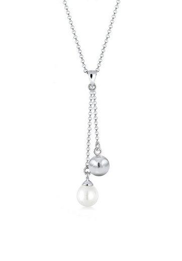 Elli Perlenkette »Y-Kette Perle Kugel 925 Sterling Silber«