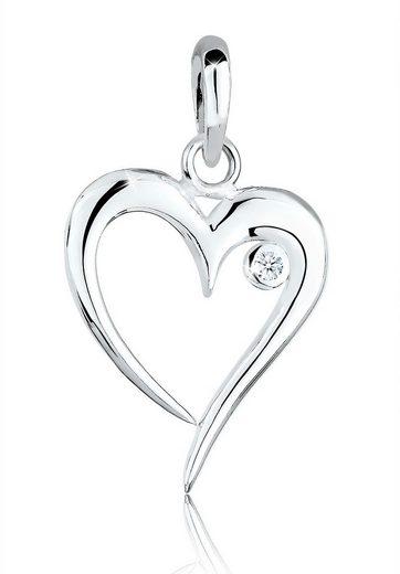 Diamore Kettenanhänger »Herz Basic Diamant (0.03 ct) 925er Silber«