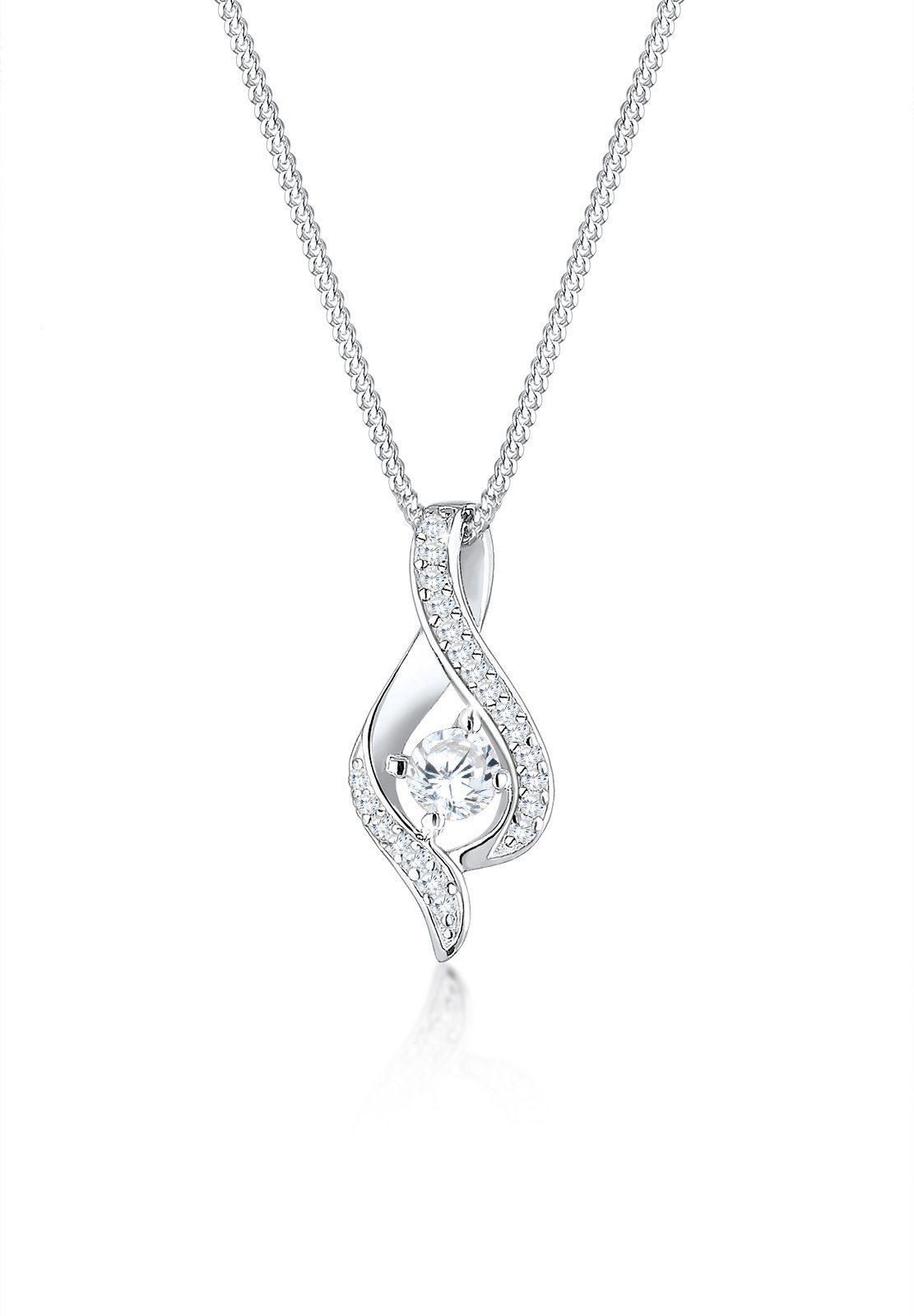 Elli Collierkettchen »Infinity Symbol Zirkonia Amoureux 925 Silber«
