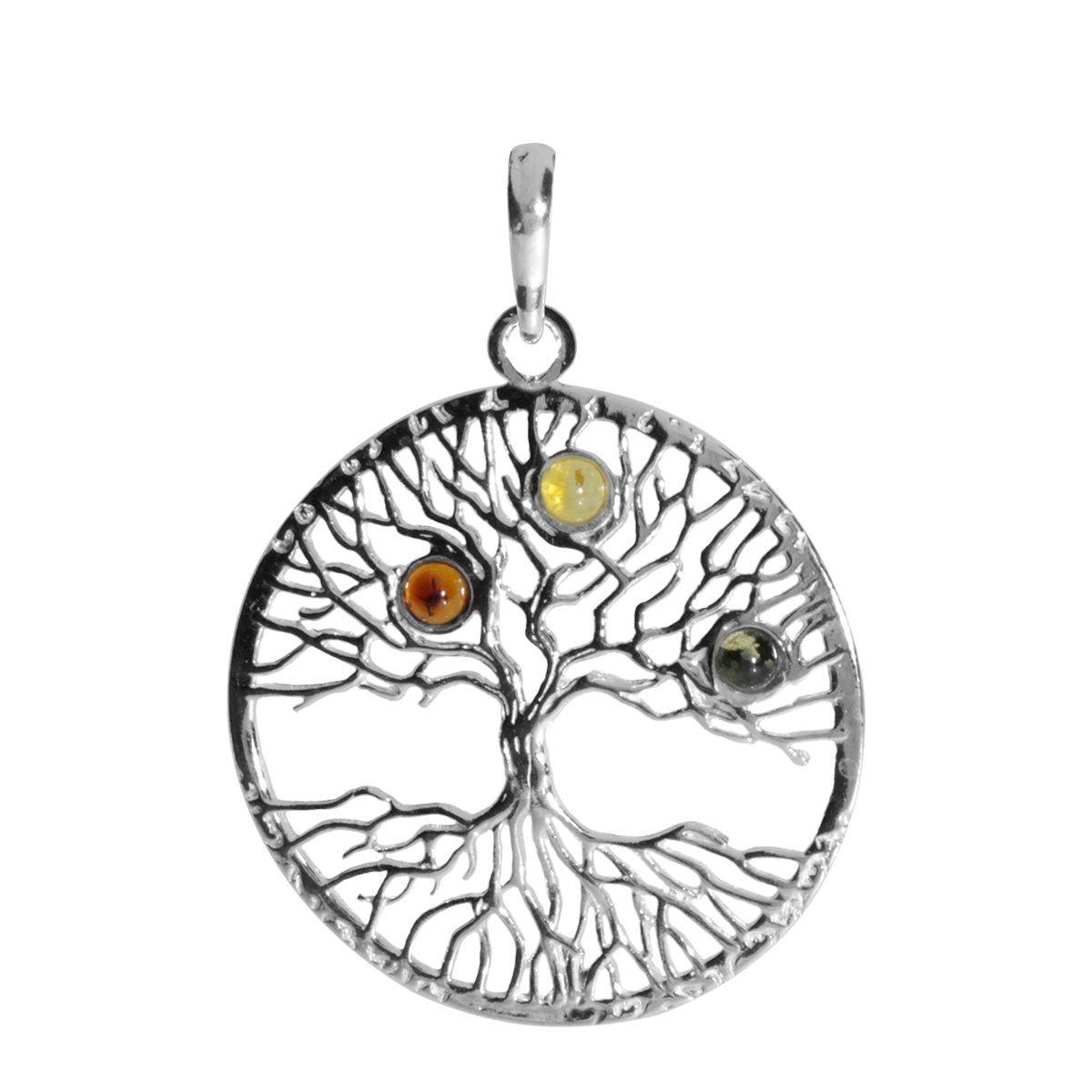 OSTSEE-SCHMUCK Kettenanhänger »Lebensbaum Silber 925/000 Bernstein« | Schmuck > Halsketten > Ketten ohne Anhänger | Silber | OSTSEE-SCHMUCK