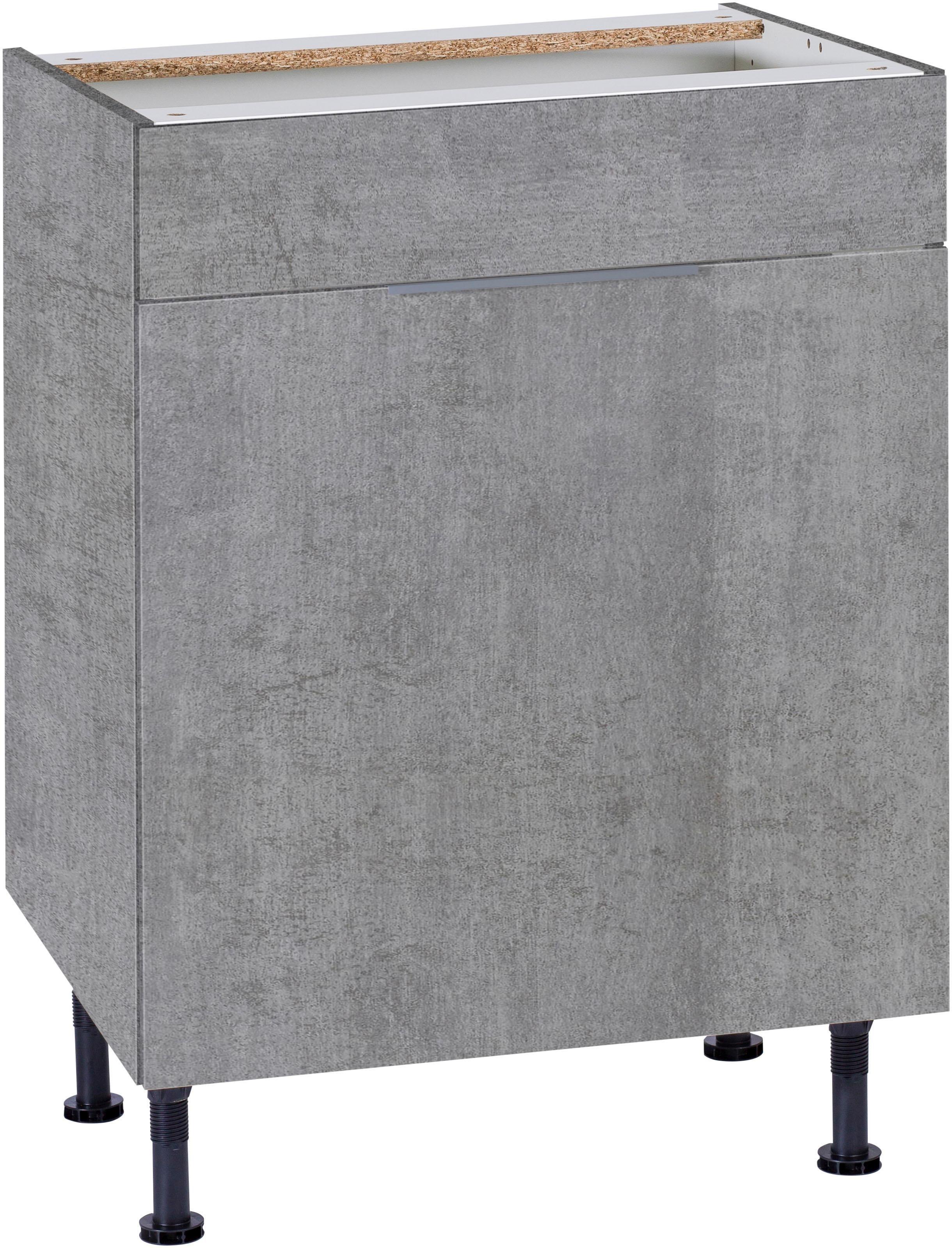 OPTIFIT Spülenschrank »Tara«, Breite 60 cm | Küche und Esszimmer > Küchenschränke > Spülenschränke | Anthrazit - Weiß - Matt - Glanz | Beton - Glänzend - Melamin | OPTIFIT