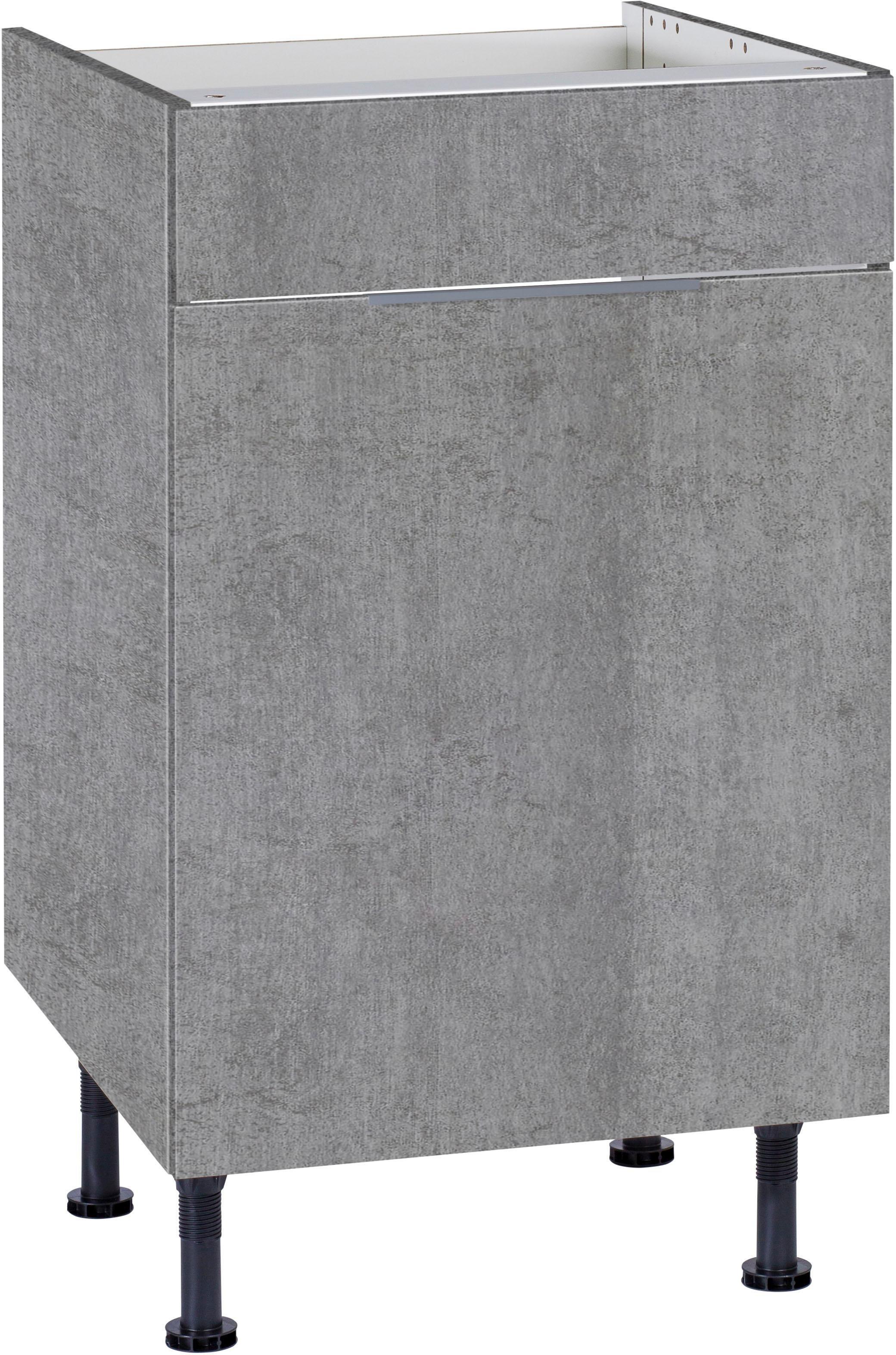 OPTIFIT Spülenschrank »Tara«, Breite 50 cm | Küche und Esszimmer > Küchenschränke > Spülenschränke | Anthrazit - Weiß - Matt - Glanz | Beton - Glänzend - Melamin | OPTIFIT
