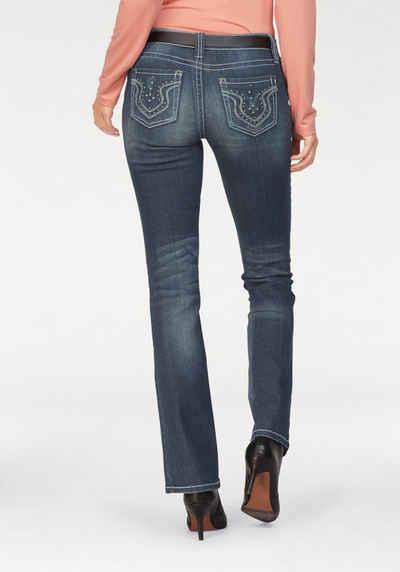 Laura Scott Bootcut Jeans Auch in Kurz und Langgrößen