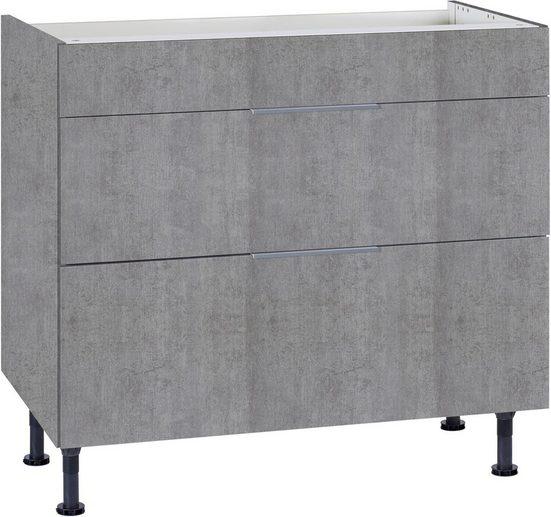 OPTIFIT Kochfeldumbauschrank »Tara« mit Vollauszug und Soft-Close-Funktion, Breite 90 cm