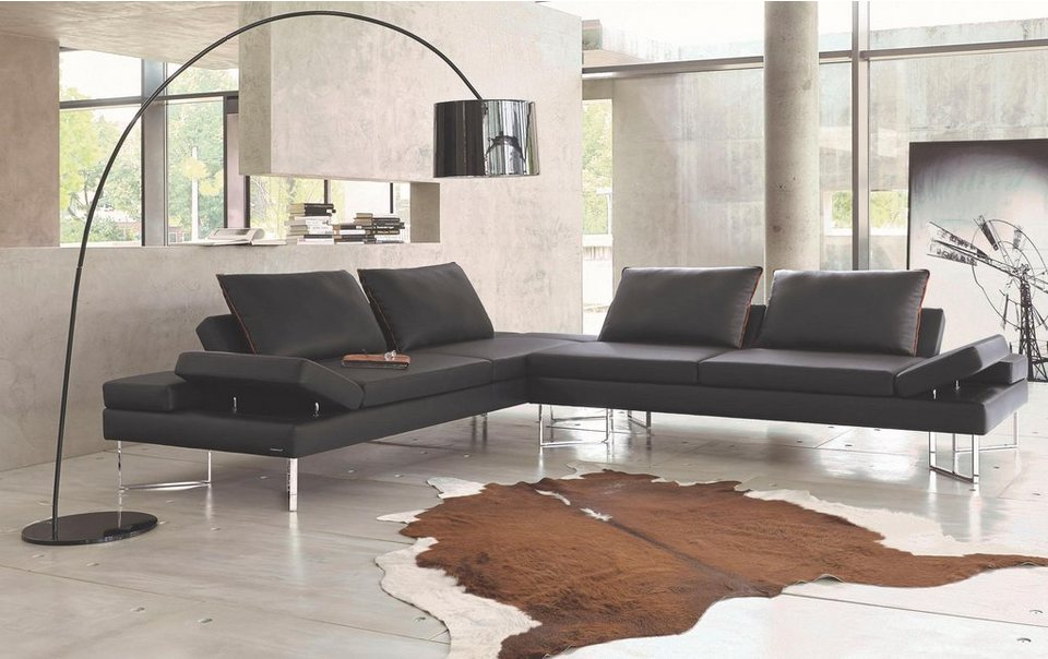 frommholz leder ecksofa avenue1 mit funktion im modernen design online kaufen otto. Black Bedroom Furniture Sets. Home Design Ideas