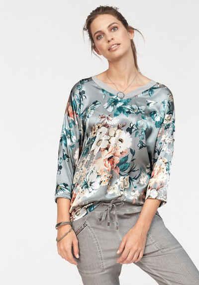 Laura Scott Blusenshirt mit trendigem Blütendruck 8f626e6263
