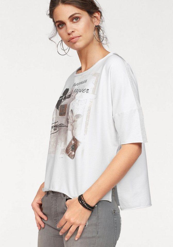 Damen Monari  Rundhalsshirt mit glitzernden Details  | 04047498724243