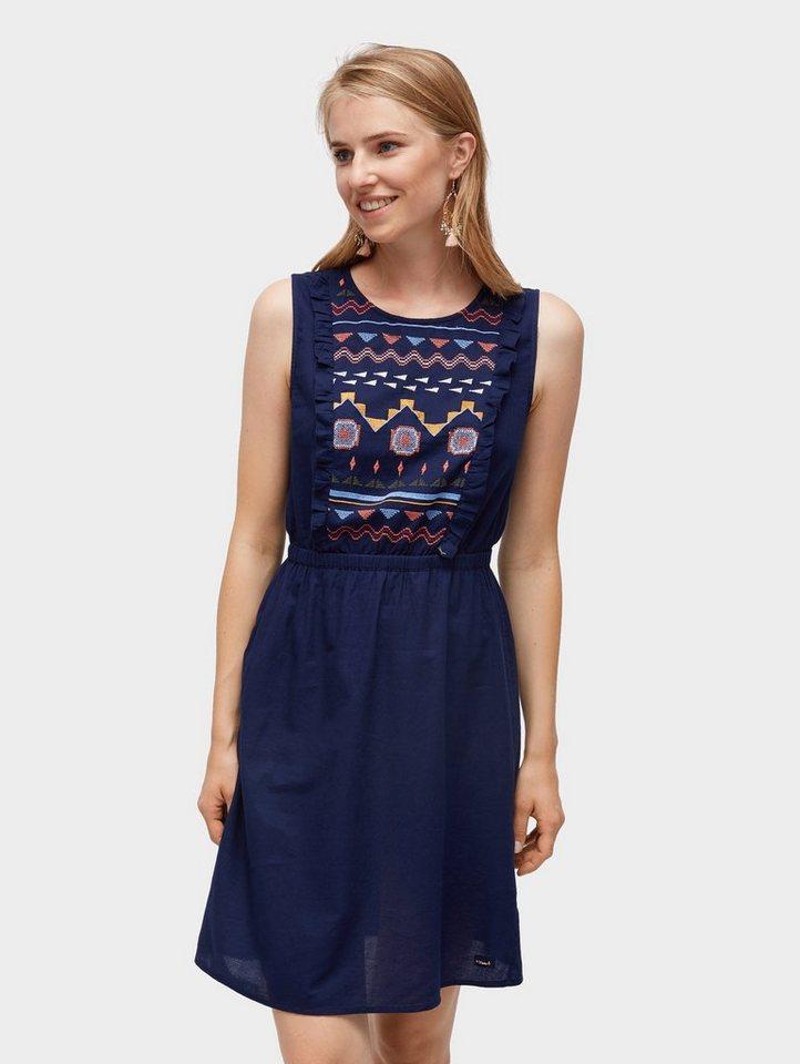 tom tailor denim sommerkleid kleid mit stickereien online kaufen otto. Black Bedroom Furniture Sets. Home Design Ideas