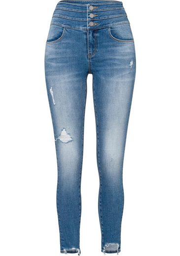 Skinny fit Attack« Mit Miss Destroyed details Sixty jeans Angesagten »blue ZnwqRxq
