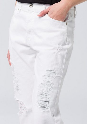 Destroyed Glitzer Silberfarbenen Mit effekten Jeans Ankle Heavy Please jeans Unterlegt qxwSOXZ4S