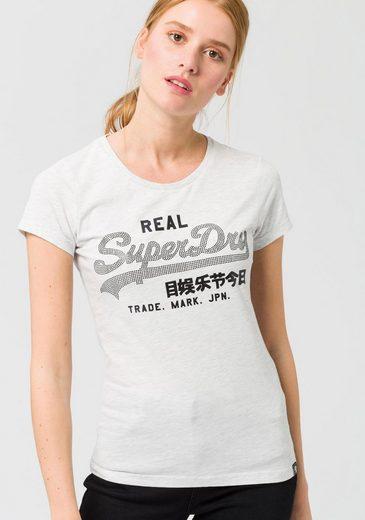 Superdry T-Shirt »VINTAGE LOGO RHINESTONE ENTRY TEE« mit modischen Glitzerdetails