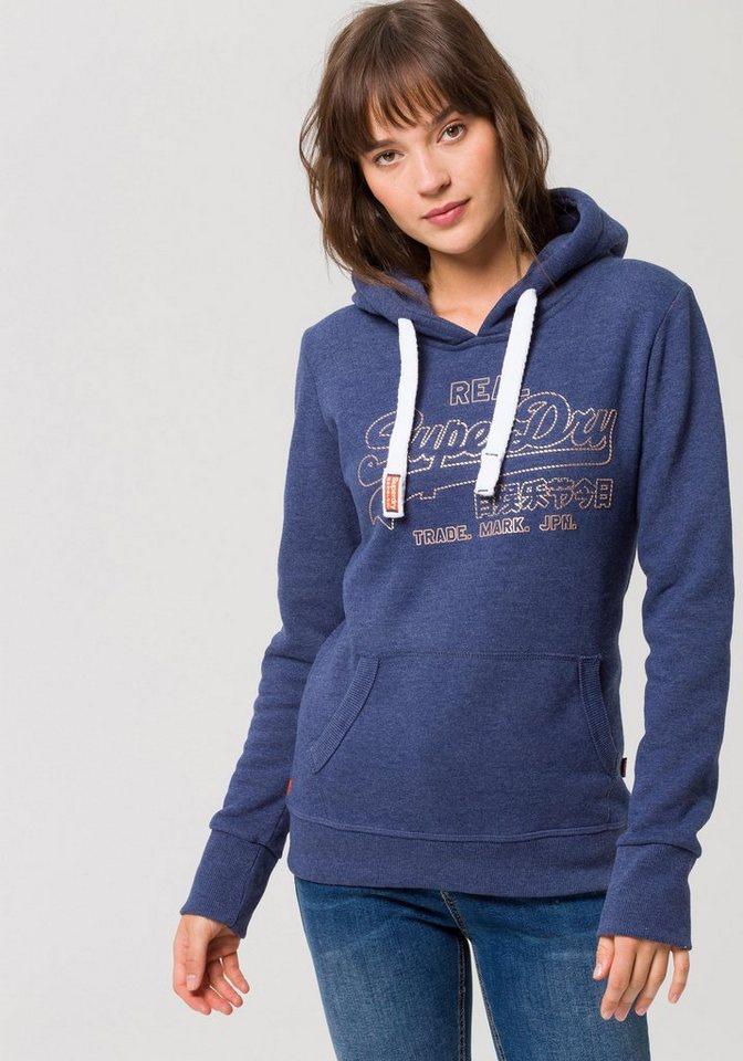 d02be3665846cf Superdry Kapuzensweatshirt »VINTGE LOGO METALIC OUTLINE HOOD« mit  metallicfarbenem Logo-Print