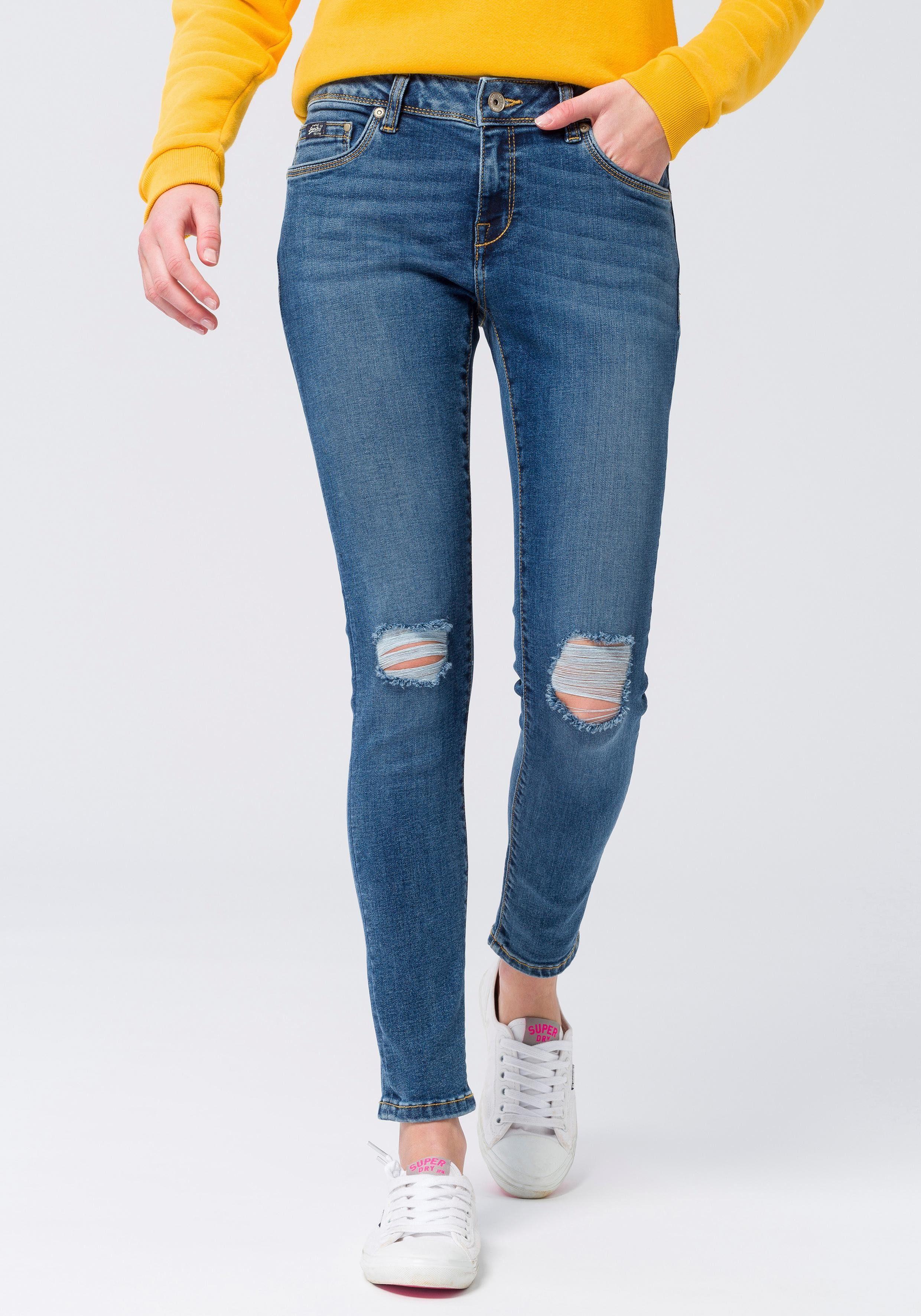 Superdry Skinny-fit-Jeans »CASSIE SKINNY« im modischen Used-Look