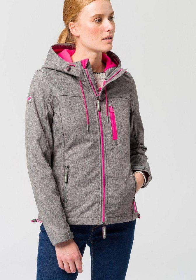 detailing a6582 517ec Superdry Softshelljacke »HOODED WINDTREKKER« mit modischen Neondetails  online kaufen | OTTO