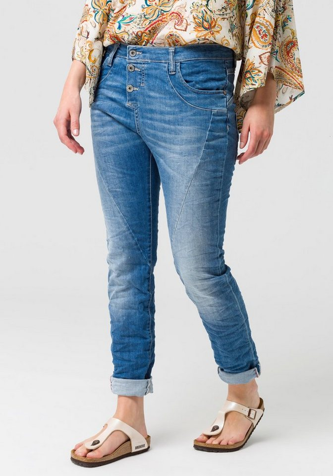 Please Jeans Boyfriend-Jeans »P78A« mit auffallender Knopfleiste ... ff25d69a9a