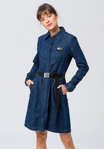 Damen G-Star RAW Jeanskleid Bristum service dress mit Textilgürtel blau | 08719764231828