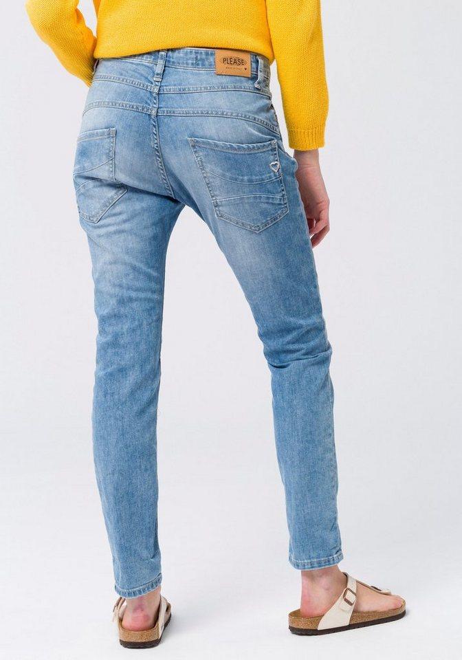 Please Jeans Boyfriend-Jeans »P46M« mit offener schräger Knopfleiste ... 616fbb0b58