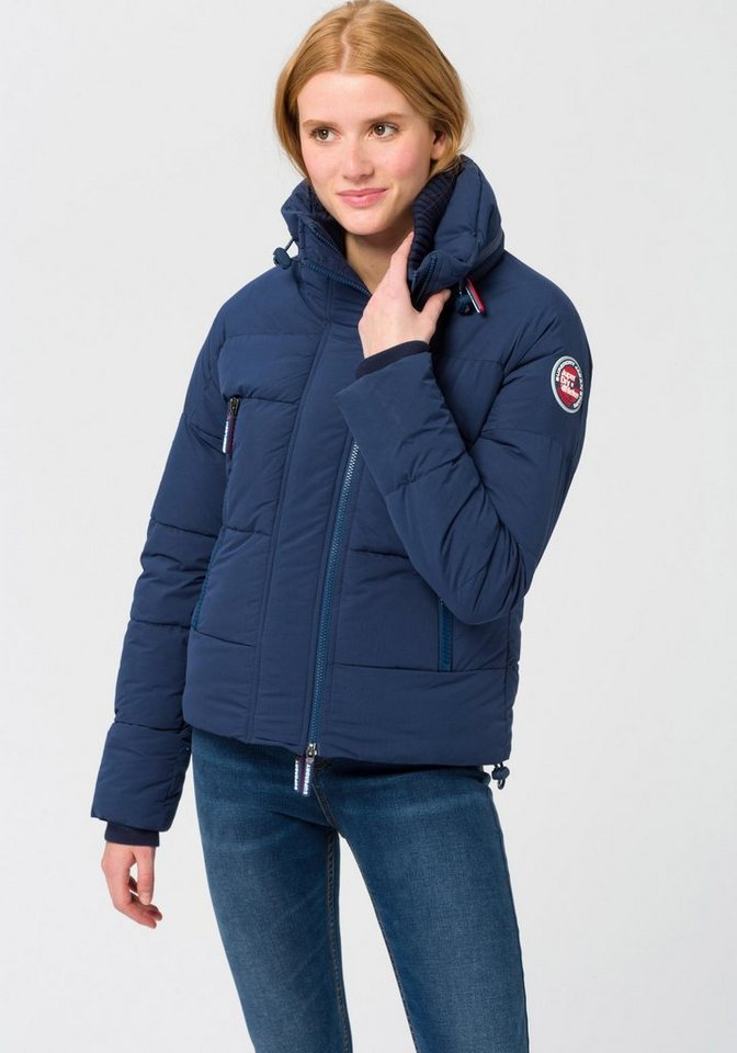 Damen Superdry  Steppjacke SOFT TECH WINDCHEATER in modischer Kurzform blau | 05057101723609