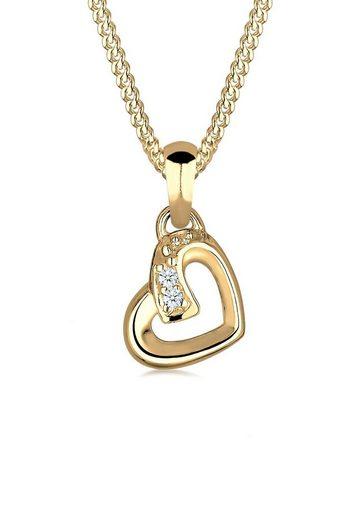 Diamore Collierkettchen »Herz Liebe Diamant (0.02 ct) Cute 585 Gelbgold«