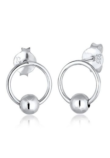 Elli Paar Ohrstecker »Kugel Kreis Ball Geo Trend 925 Sterling Silber«