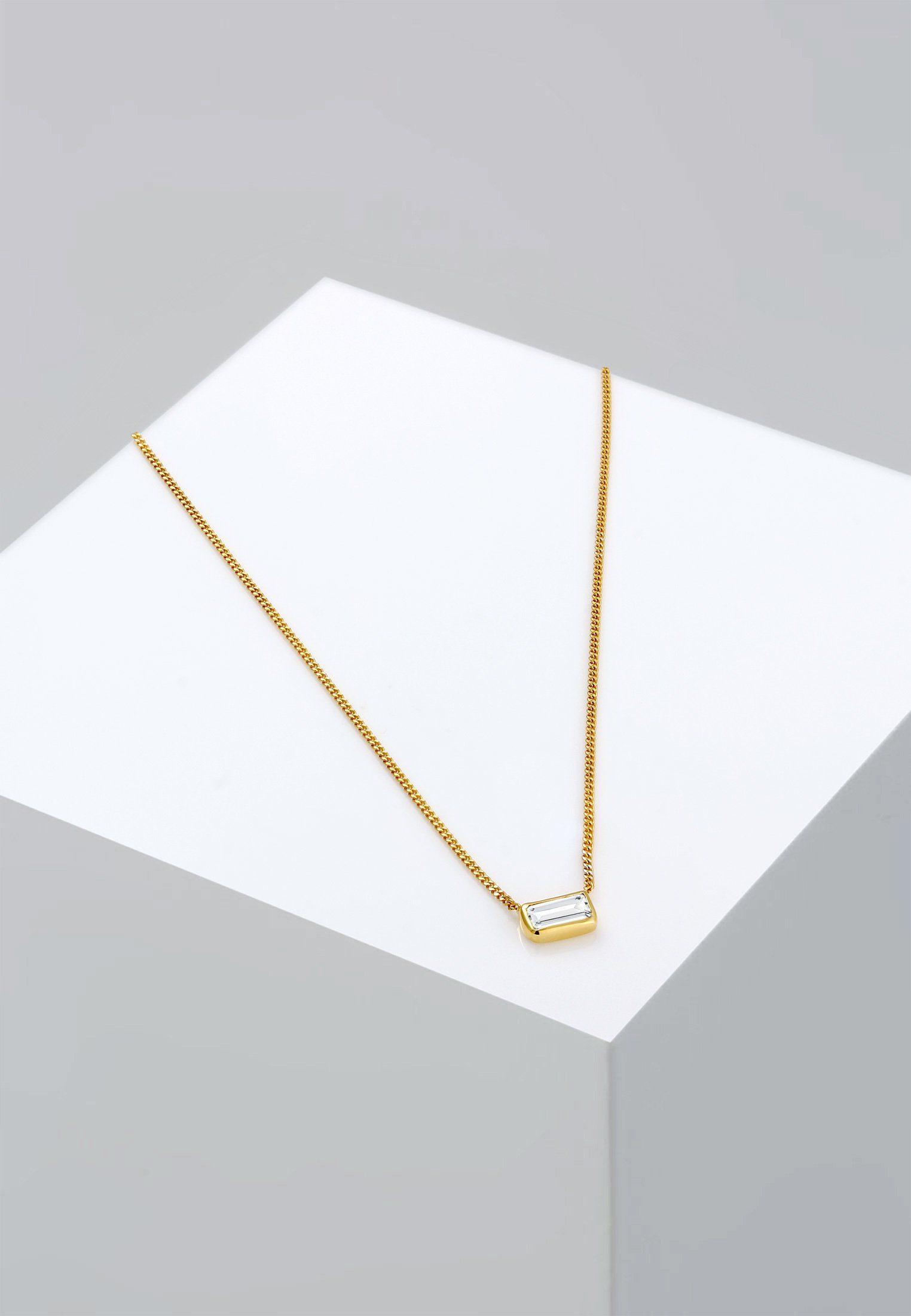 Sterling »rechteck 925 Geo Online Topas Collierkettchen Kaufen Silber« Edelstein Elli TuOkiPXZ