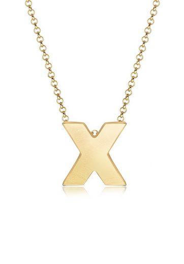 Elli Collierkettchen »Buchstabe X Initialen Trend Minimal 925 Silber«