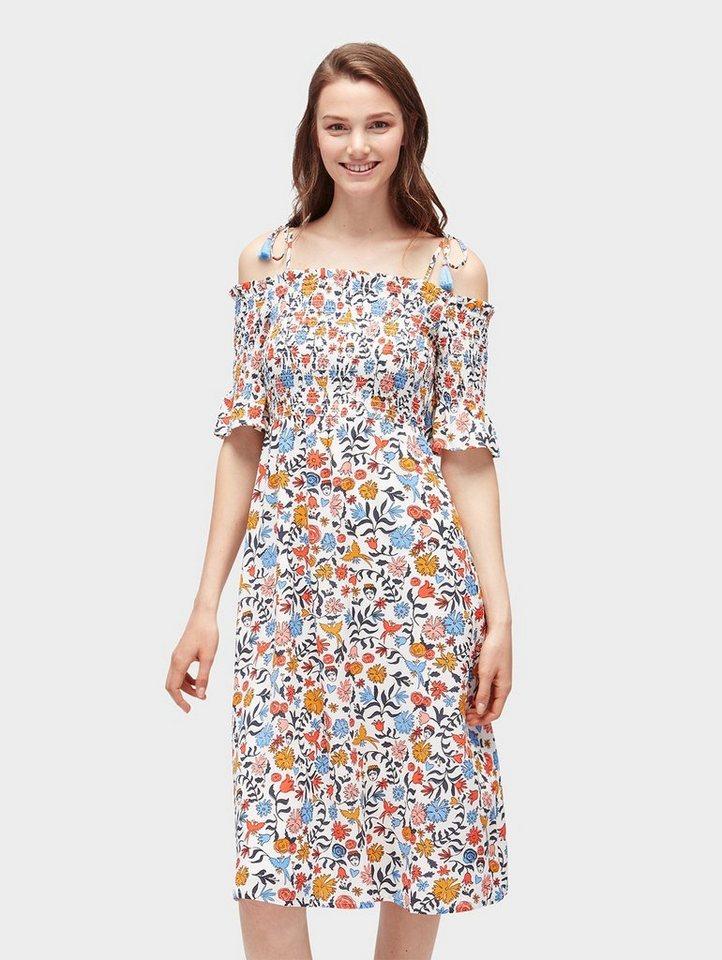 Tom Tailor Denim Sommerkleid »Midikleid mit floralem Muster« online ... bbdda74062