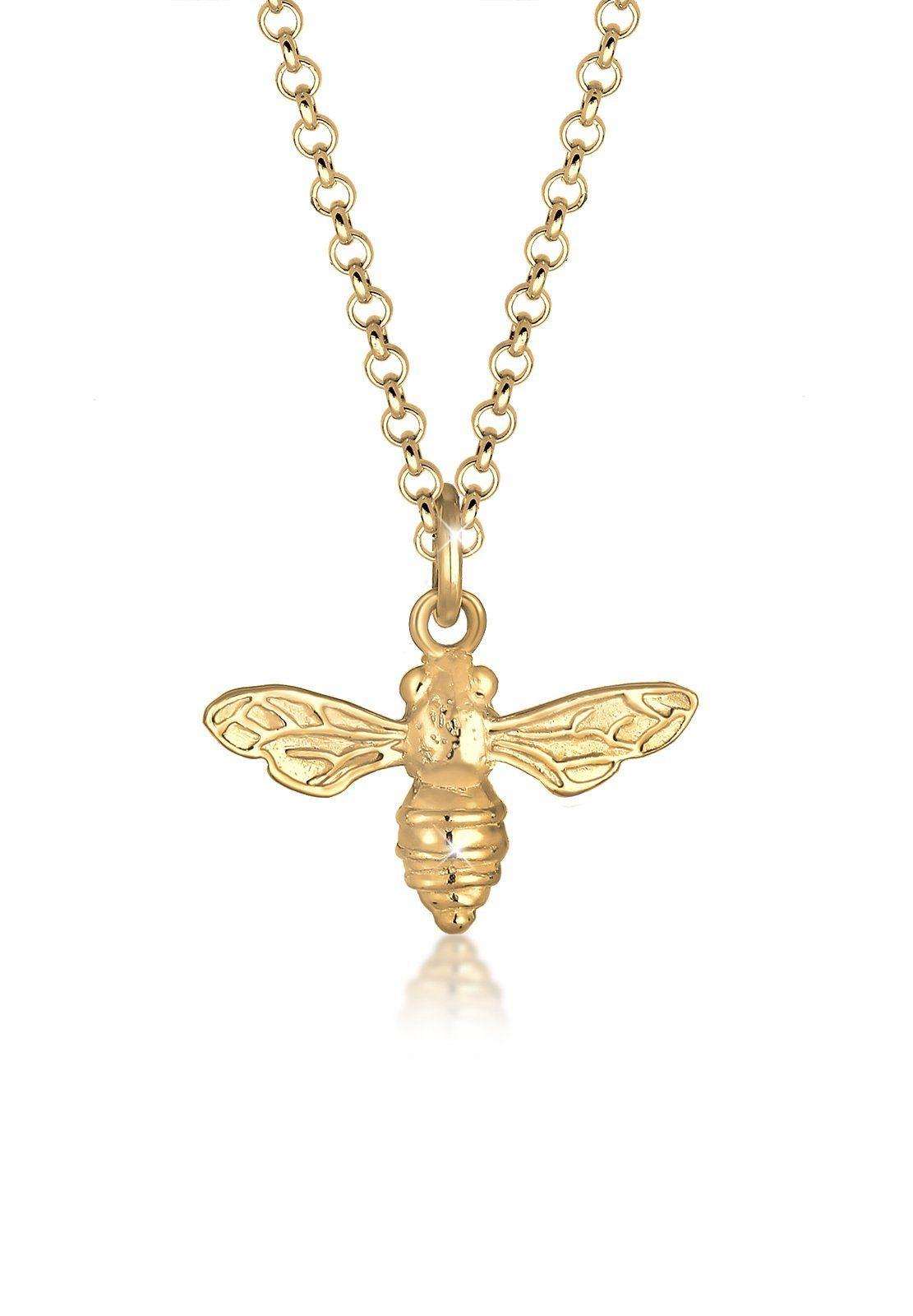 Elli Collierkettchen »Biene Tier Trend Sommer 925 Sterling Silber«