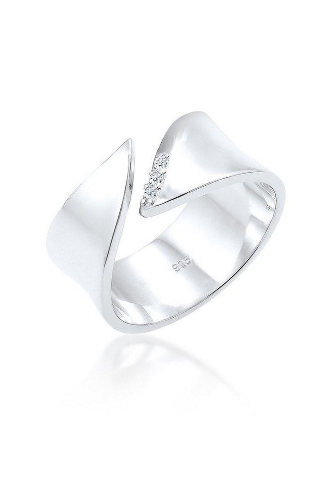 Diamore Diamantring »Wickelring Diamant 0.06 ct. 925 Silber« | Schmuck > Ringe > Diamantringe | Weiß | Diamore