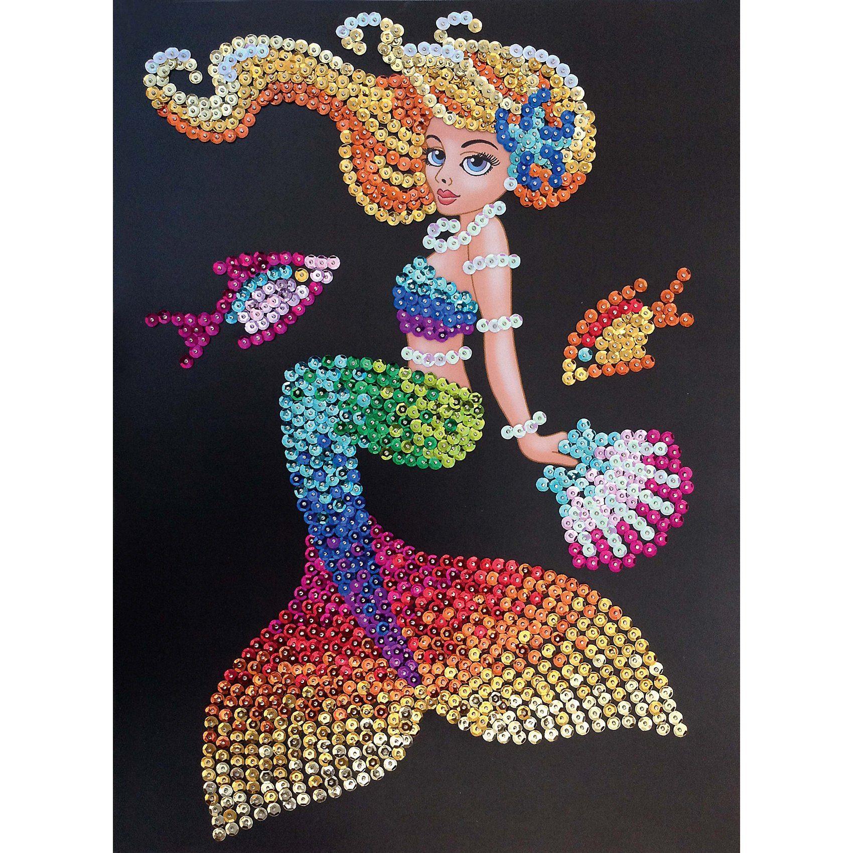 MAMMUT Spiel und Geschenk Sequin Art Meerjungfrau