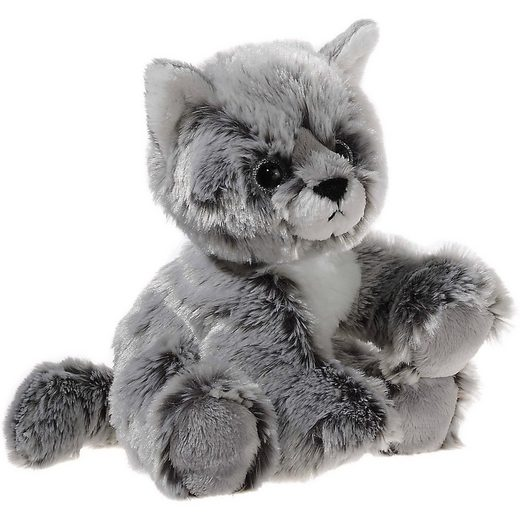 Heunec GLITTER-KITTY Katzen-Baby graumeliert, 20 cm