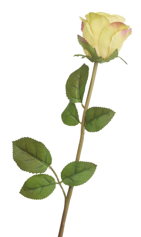 """Kunstblume """"Rose Einzelstiel Gelb"""" 47 cm lang"""
