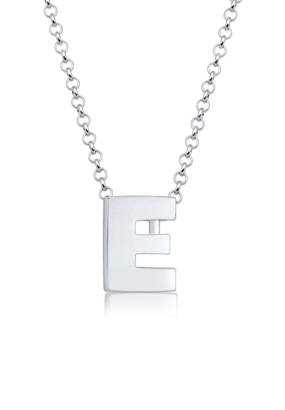Elli Collierkettchen »Buchstabe E Initialen Trend Minimal 925 Silber«