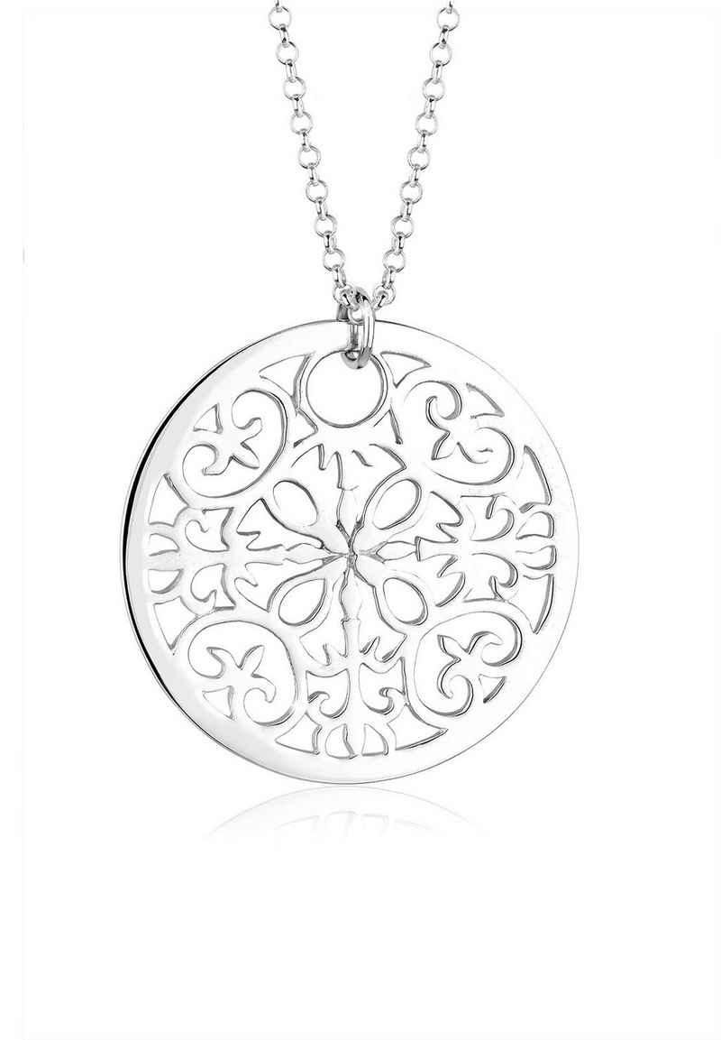 Elli Kette mit Anhänger »Ornament Symbol Anhänger Rund 925 Silber«