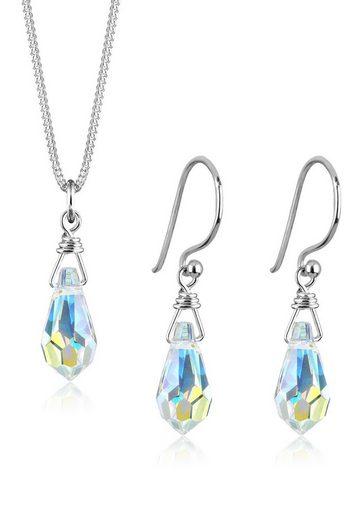 Elli Schmuckset »Drop Swarovski® Kristalle 925 Sterling Silber«