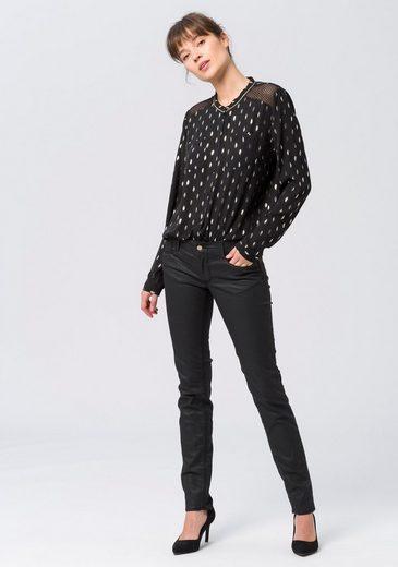 Lederoptik Angesagter Le Des Schwarz »pulp« In fit jeans Cerises Slim Temps 0vnOyNwm8