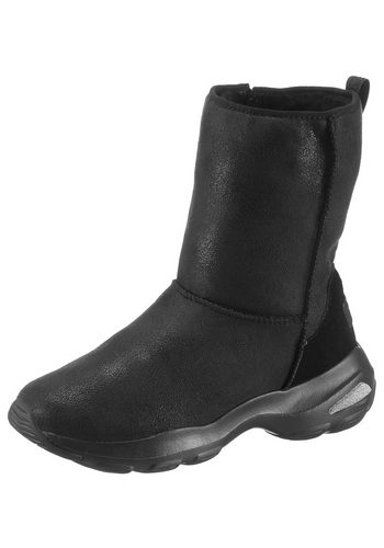 Damen Skechers DLite Ultra-Temp Winterboots im Metallic-Look schwarz | 00190872972205