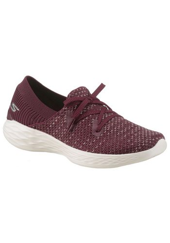 Damen Skechers You – Prominence Slip-On Sneaker in Strick-Optik rot | 00192283291456