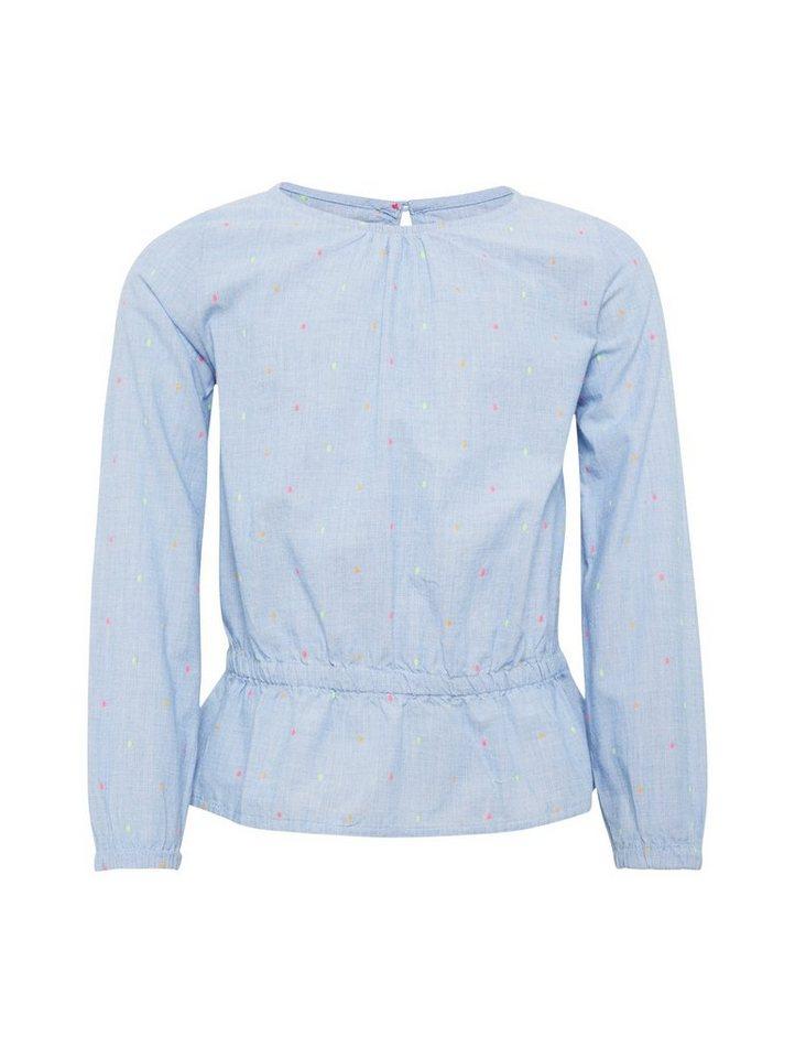 Tom Tailor Klassische Bluse Bluse Mit  Kontrastfarbigen Punkten Hellblau?$formatz$