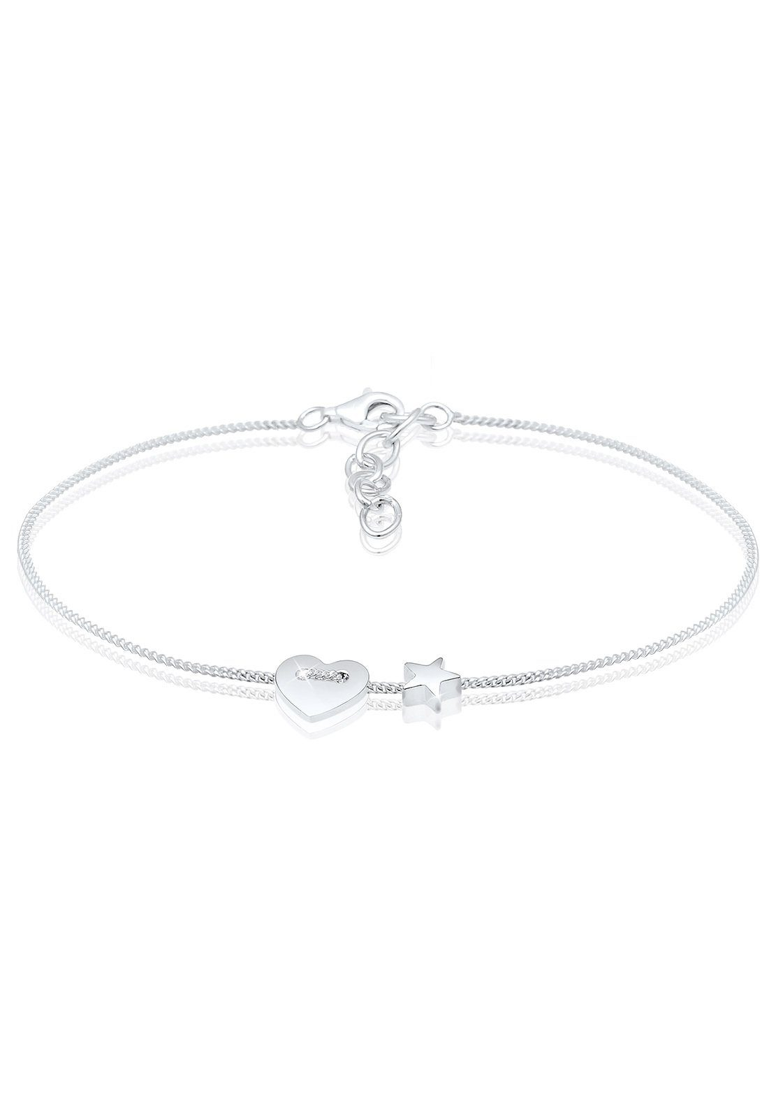 Elli Armband »Herz Sterne Astro Symbol Filigran 925 Silber«
