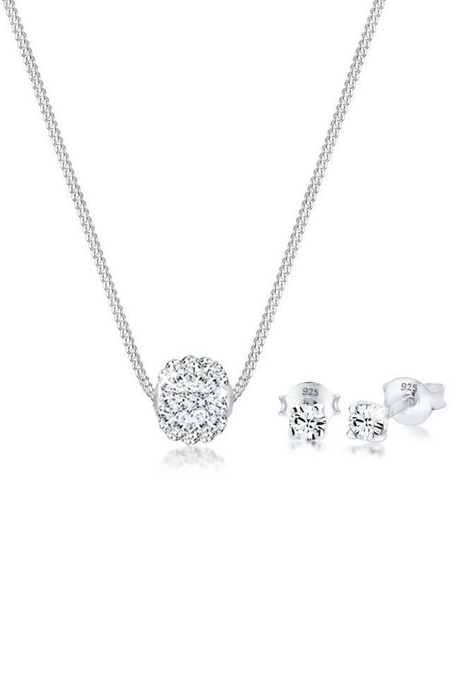 Elli Schmuckset »Set  Collier Kugel Swarovski® Kristalle 925 Silber« (Set,  2 tlg) c1584e46c4