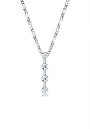 Diamore Collierkettchen »Basic Stab Geo Kreis Diamant (0.06 ct) 925 Silber«