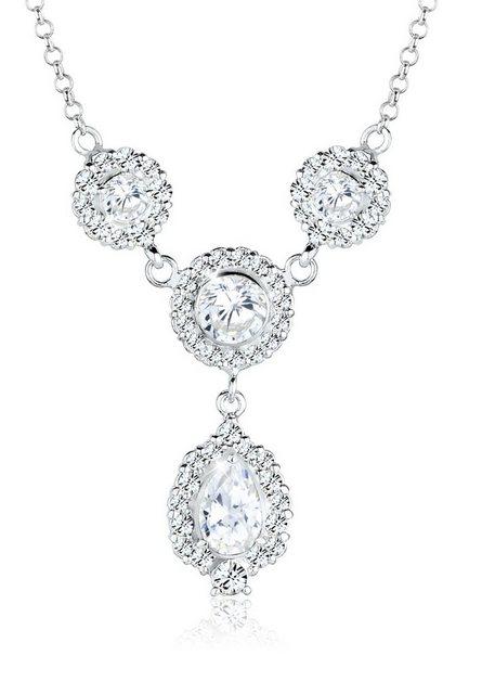 Elli Statementkette »Tropfen Swarovski® Kristalle 925 Sterling Silber«   Schmuck > Halsketten > Statementketten   Elli