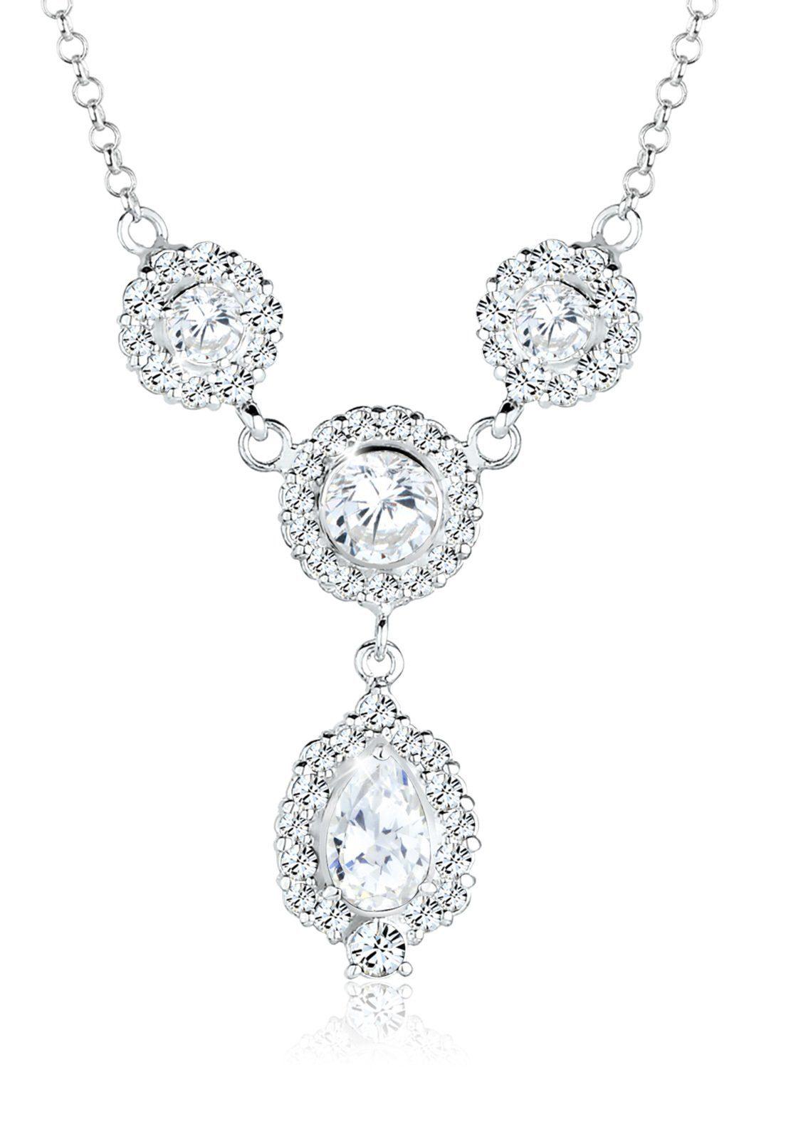Elli Statementkette »Tropfen Swarovski® Kristalle 925 Sterling Silber«