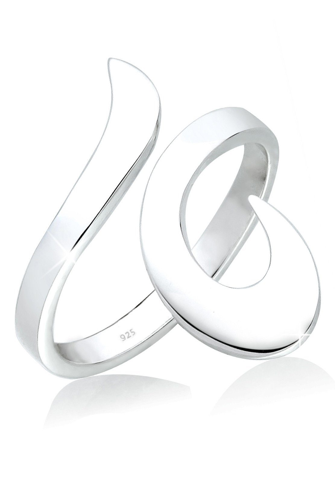 Elli Fingerring »Statement Wickelring Ornament 925 Sterling Silber«
