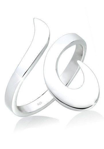Elli Fingerring »Wickelring Verstellbar Ornament 925 Silber«