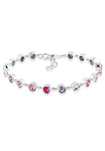 Elli Armband »Multi Swarovski® Kristalle 925 Sterling Silber«