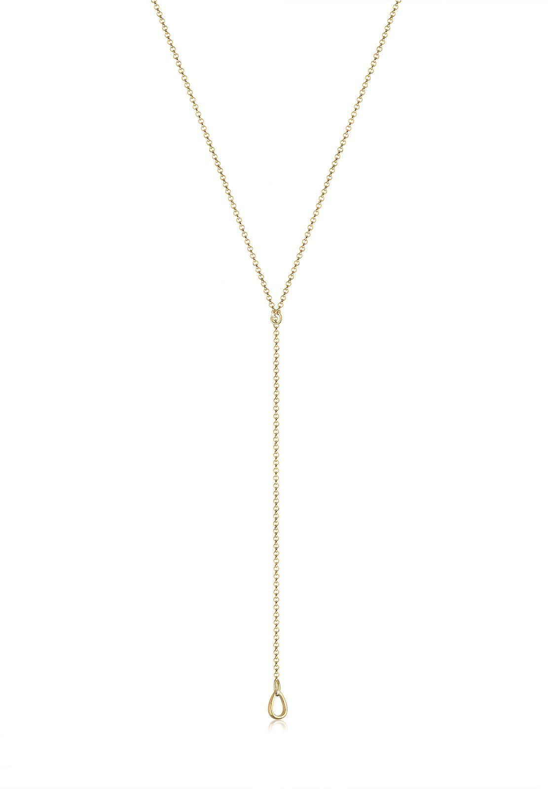 Elli Perlenkette »Basic Y-Kette Tropfen 925 Sterling Silber«